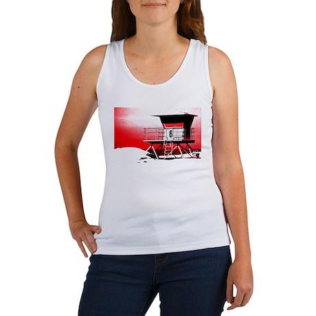 lifeguard tower Women's Tank Top