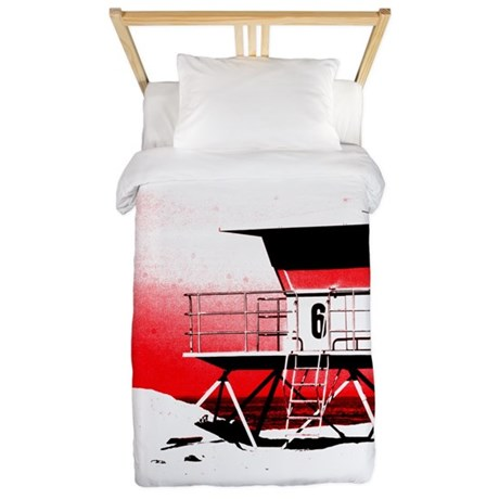 lifeguard tower Twin Duvet