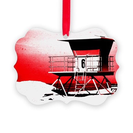 lifeguard tower Picture Ornament