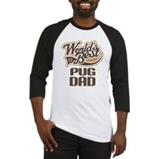 Pug Dad Dog Gift Baseball Jersey