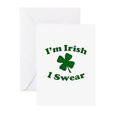 Im Irish. I Swear. Greeting Cards (Pk of 10)