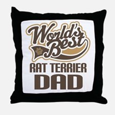 Rat Terrier Dad Throw Pillow