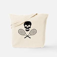 Skull & Tennis Racquets Tote Bag