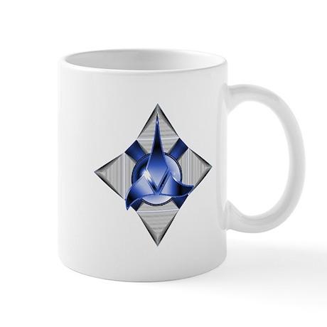 Blue klingon logo design mug by listing store 18237064 for Blue mug designs