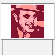 Al Capone Pop Art Yard Sign