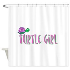turtlegirl.png Shower Curtain
