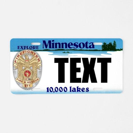 Minnesota Firefighter Custom License Plate