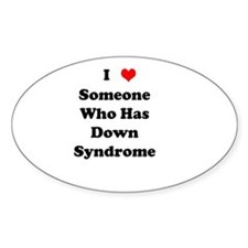 Down Syndrome Love Oval Decal