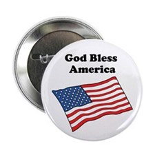 "2.25"" Button God bless America"