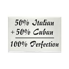 Half Italian, Half Cuban Rectangle Magnet