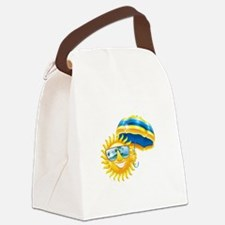 Sun with umbrella Canvas Lunch Bag