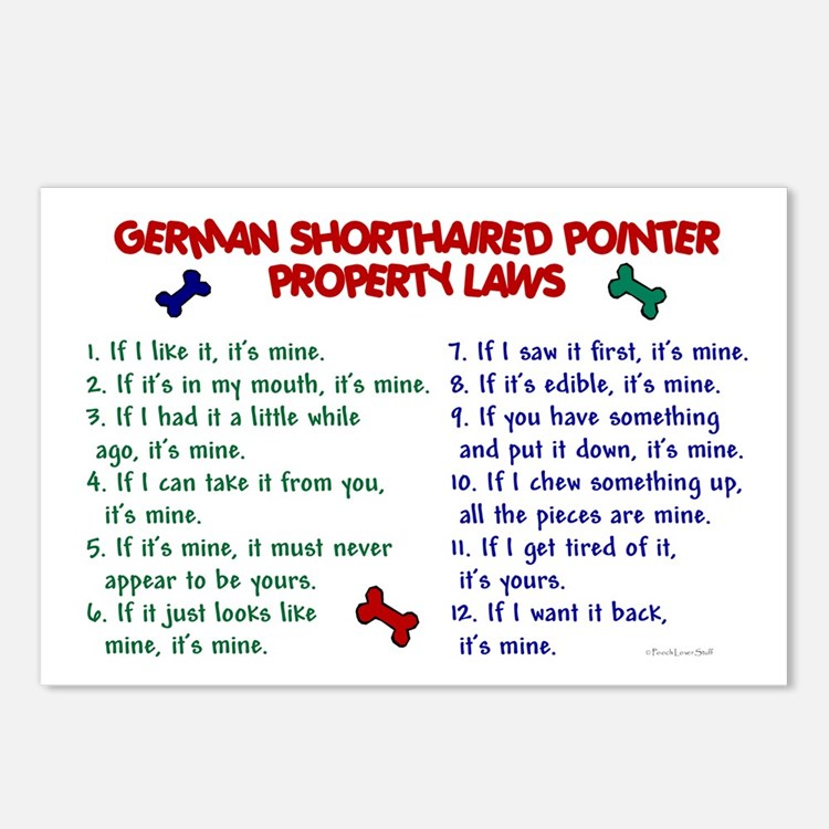 Cute German shorthaired pointer Postcards (Package of 8)