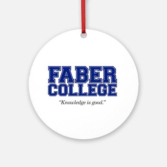 Faber College Ornament (Round)