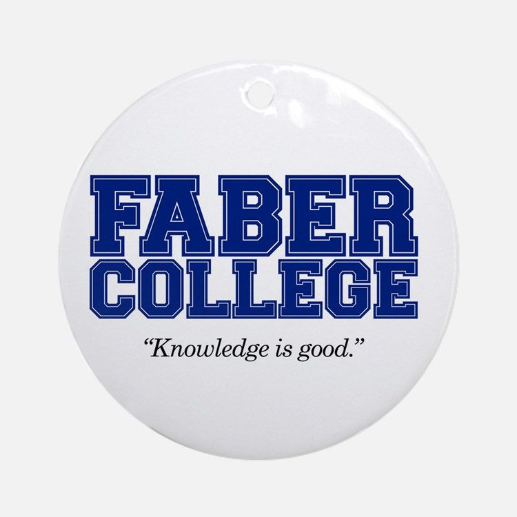 Faber College Ornament (Round)