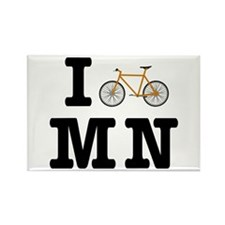 I Bike MN Rectangle Magnet