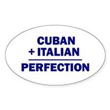 Cuban + Italian Oval Decal