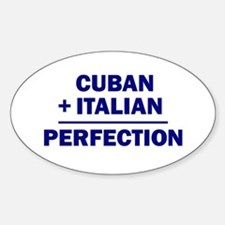 Cuban + Italian Oval Decal