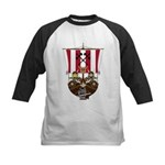 Vikings and Longship Kids Baseball Jersey