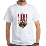 Vikings and Longship White T-Shirt