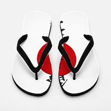 Aikido Grunge Kanji Flip Flops