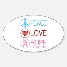Peace Love Hope Decal