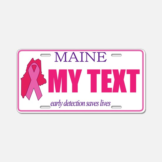 Maine pink ribbon license plate replica