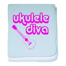 Ukulele Diva baby blanket