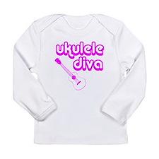 Ukulele Diva Long Sleeve Infant T-Shirt