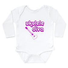 Ukulele Diva Long Sleeve Infant Bodysuit