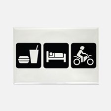 Eat Sleep Dirt Bike Rectangle Magnet