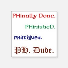 "His Ph.D. Sticker 3"" x 3&q"