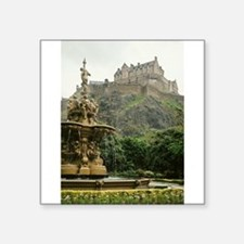 "Edinburgh Castle Square Sticker 3"" x 3"""