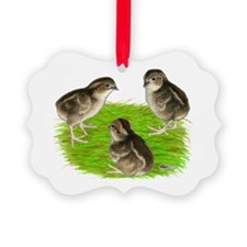 Bobwhite Quail Chicks Ornament