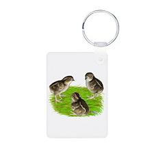 Bobwhite Quail Chicks Keychains
