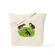 Bobwhite Quail Chicks Tote Bag