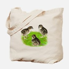 Bobwhite Quail Chicks Tote Bag