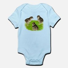Bobwhite Quail Chicks Infant Bodysuit