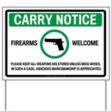 Gun sign Yard Signs