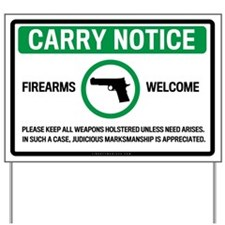 Carry Notice Yard Sign