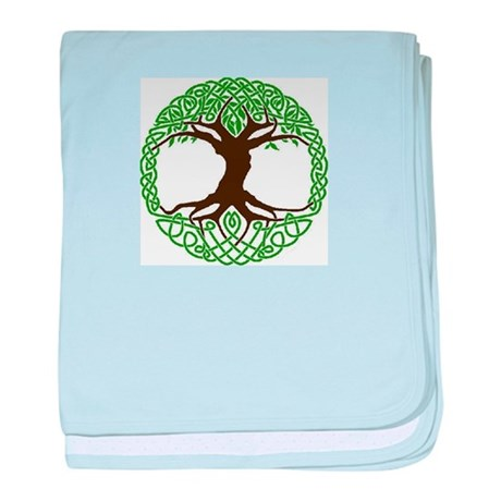 colored tree of life baby blanket