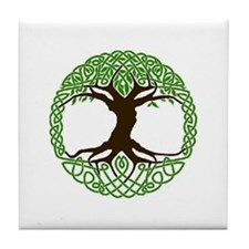 colored tree of life Tile Coaster