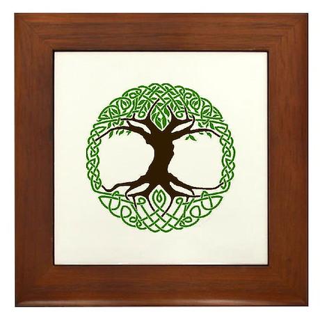 colored tree of life Framed Tile