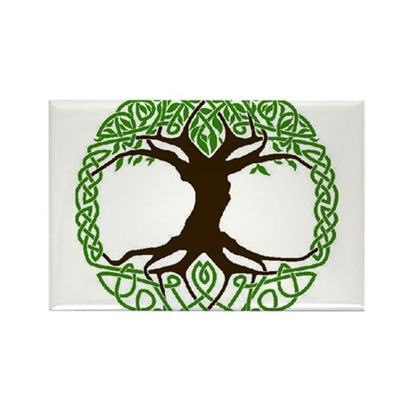 colored tree of life Rectangle Magnet