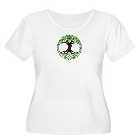 colored tree of life Women's Plus Size Scoop Neck
