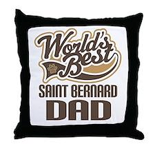 Saint Bernard Dad Throw Pillow