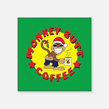 "Cheekee Santa Square Sticker 3"" x 3"""