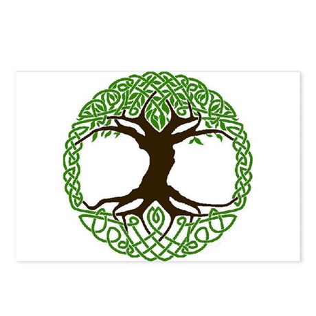 Colored Tree of Life Postcards (Package of 8)