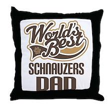 Schnauzers Dad Throw Pillow