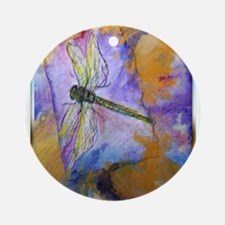 Dragonfly! Beautiful nature art! Ornament (Round)