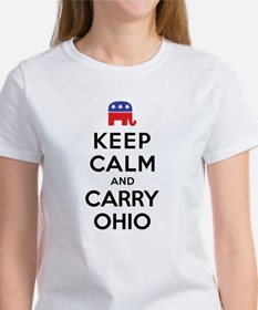 Keep Calm and Carry Ohio Rep Women's T-Shirt